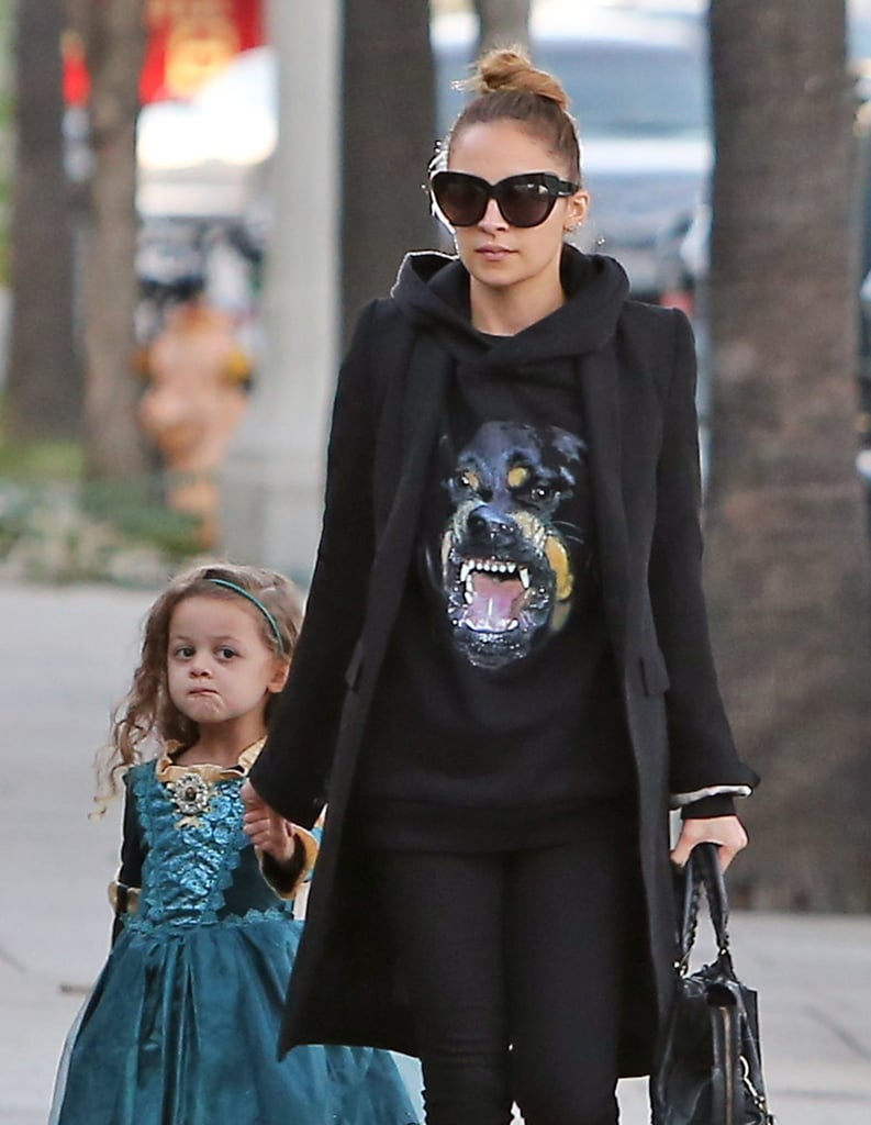 Nicole Richie Fits In a Preholiday Workout and Costume Party