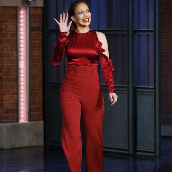 Jennifer Lopez in Cushnie et Ochs Red Outfit March 2016