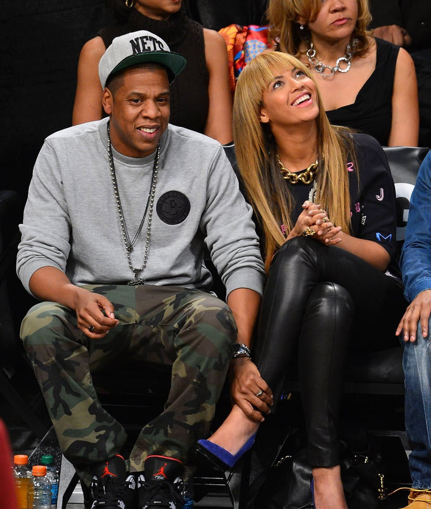 Barclays Center veterans Jay-Z and Beyoncé Knowles took their front-row seats for a Brooklyn Nets game in November 2012.