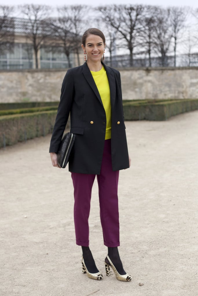 A polished approach to colour-blocking.
