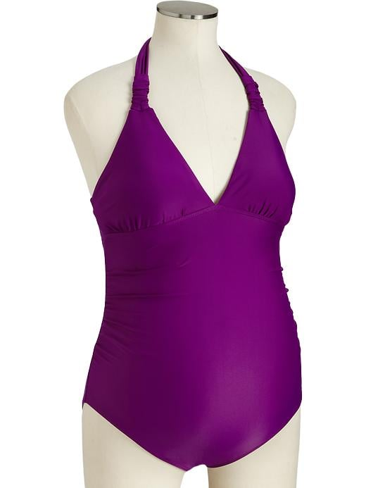 Old Navy Maternity Ruched Halter Swimsuit ($30)