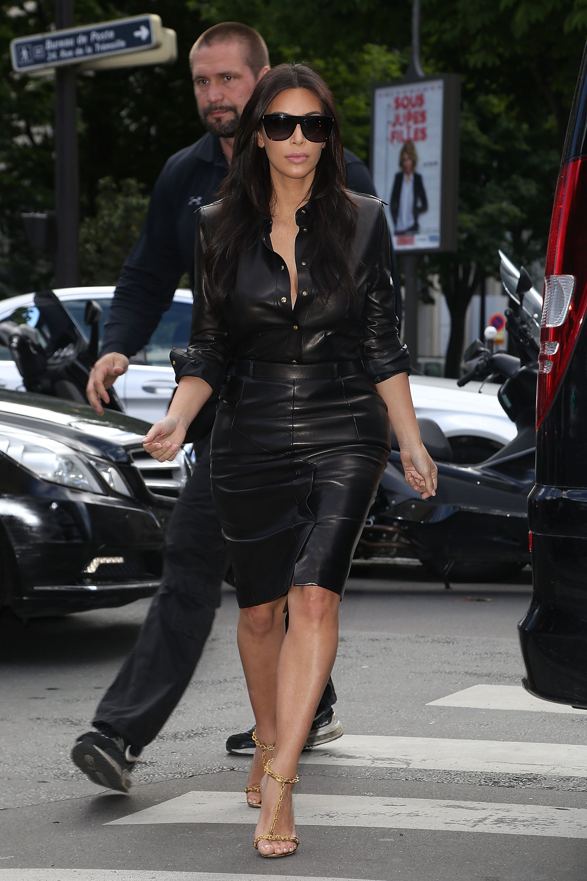 Kim looked like a very chic bride-to-be as she went to lunch at L'Avenue on Thursday.