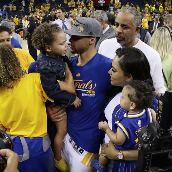Stephen and Riley Curry After Western Conference Finals 2016