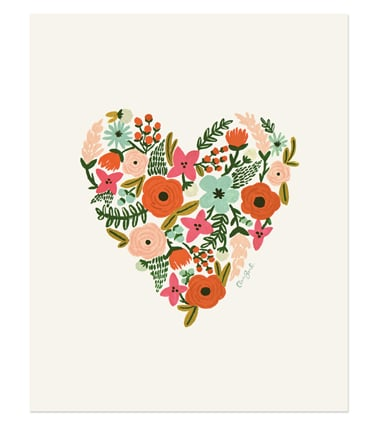 Rifle Paper Co. - Floral Heart Print ($24)
