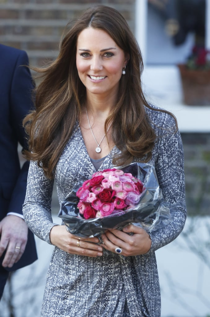 After a visit to Hope House back in February, Kate's blowout looked silky, healthy, and quite perfect.