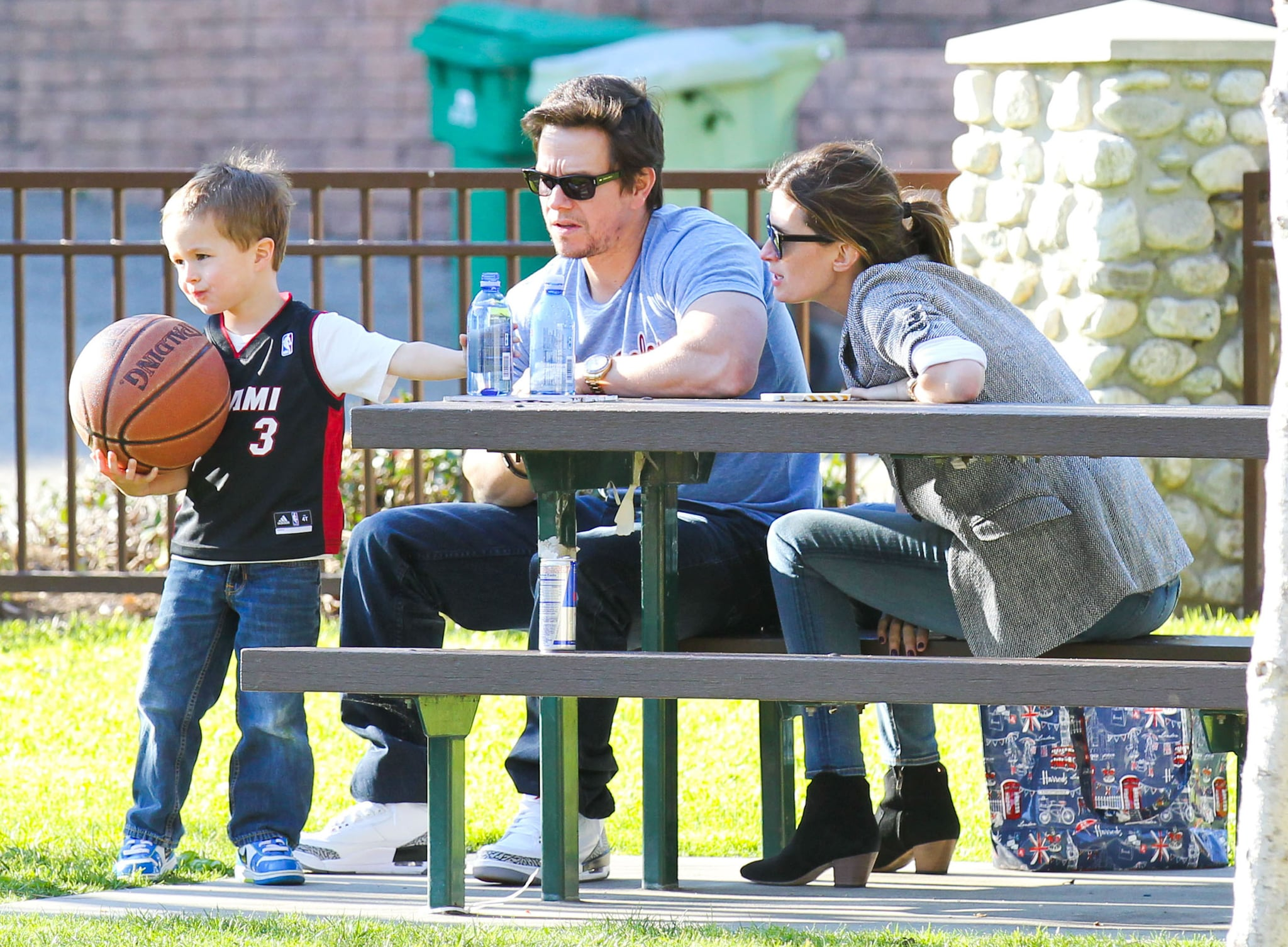celebrity amp entertainment mark wahlberg watches his son