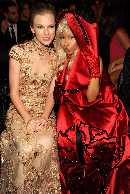 Taylor Swift and Nicki Minaj shared a photo during the show.