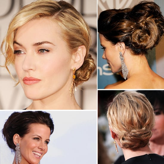 Kate Winslet and Kate Beckinsale Hair at the Golden Globes