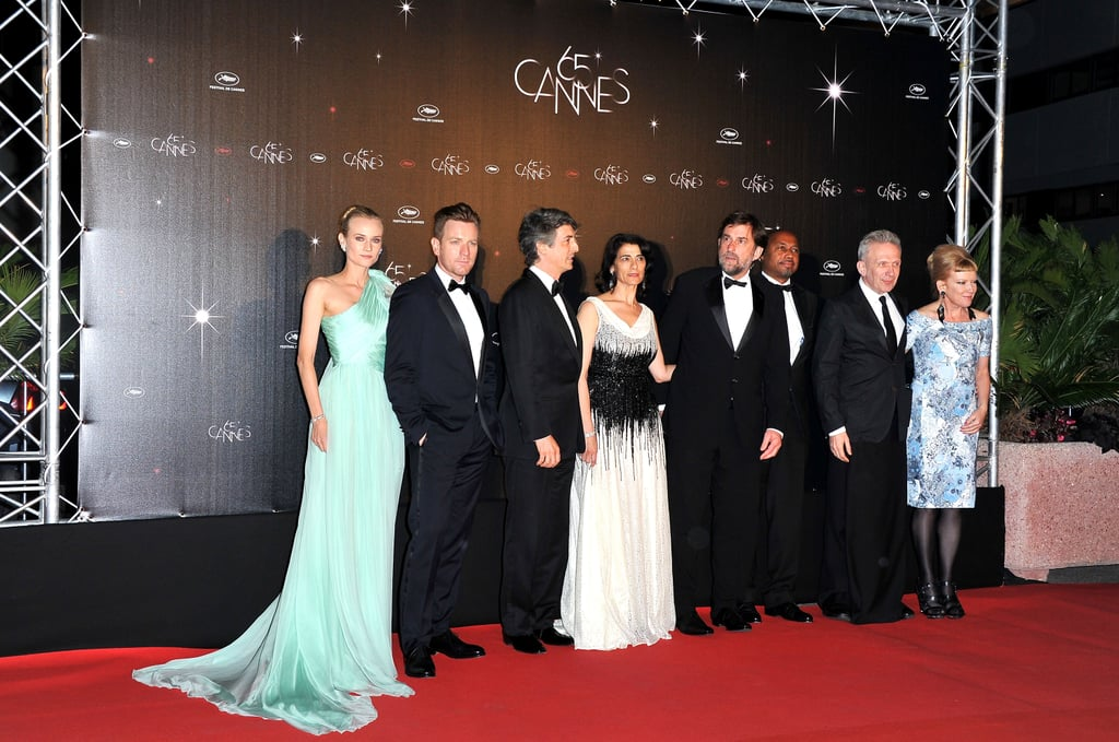 The jurors of the 65th annual Cannes Film Festival lined up for a photo.