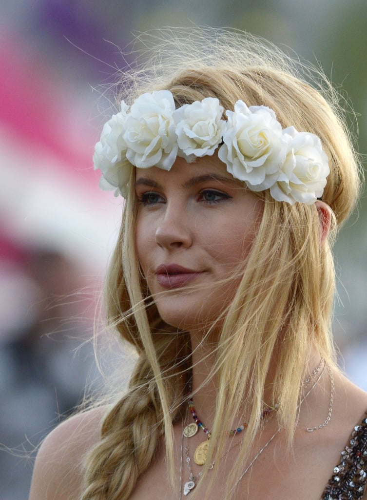 Braids and flowers: the ultimate in festival style.