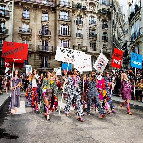 Chanel Spring 2015 Fashion Show Protest Pictures
