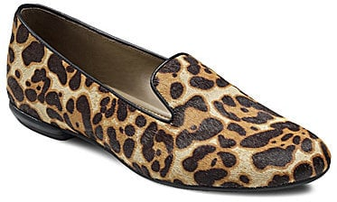 Ecco Perth Leopard-Print Smoking Slippers