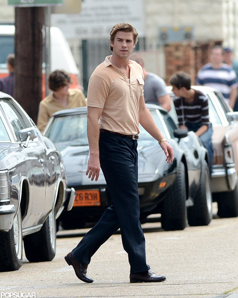Liam Hemsworth looked handsome on the set of his next film.