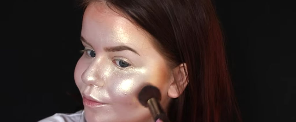 Girl Strobes Her Entire Face Using 7 Different Kinds of Highlighters