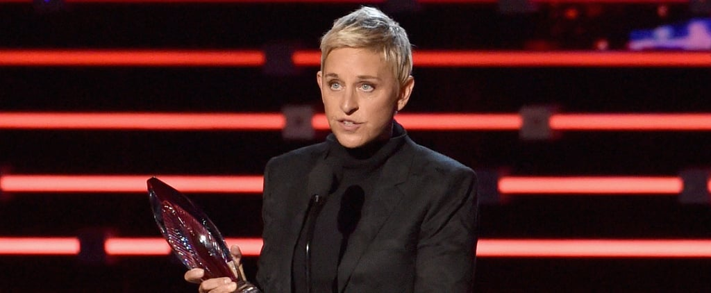 Ellen DeGeneres Gives a Touchingly Hilarious Acceptance Speech, Like Only She Could