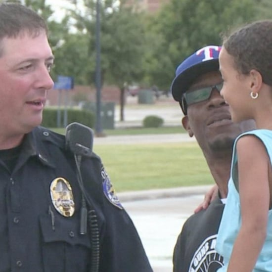 Police Officer Calms Scared Young Girl After Dad Pulled Over