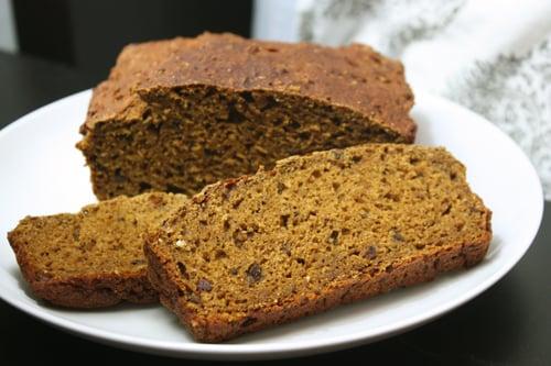 No-Sugar Pumpkin Bread