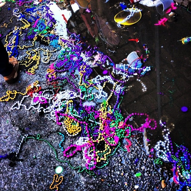 Meanwhile, beads covered every surface.