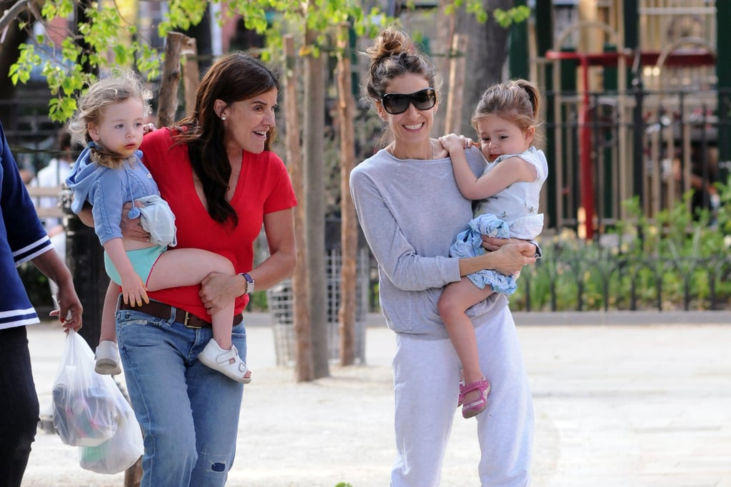 Sarah Jessica Parker spent some quality time out with her daughters at the park in NYC.