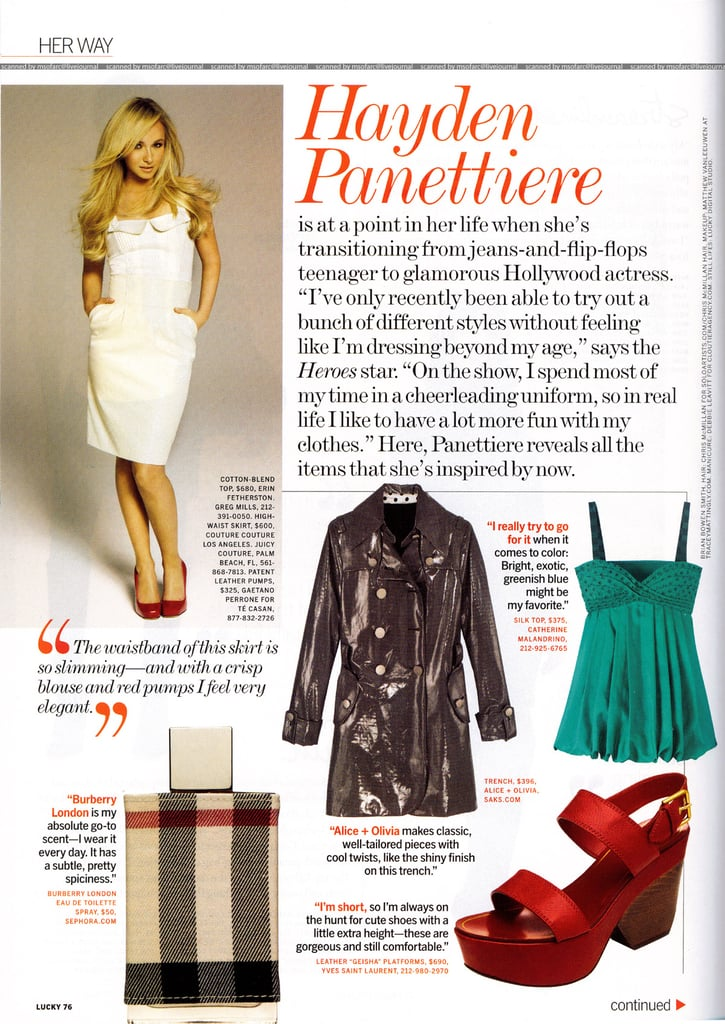 Hayden Panettiere Loves Her Some Shoes