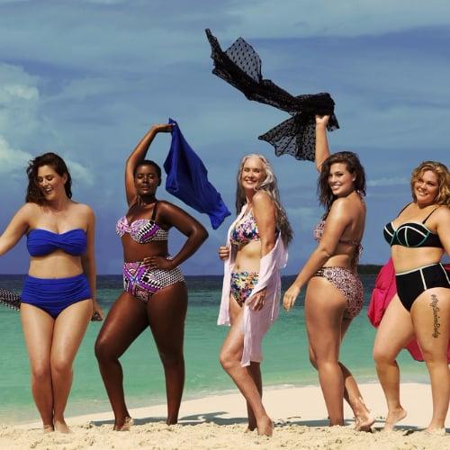 Plus-Size Women Wearing Bikinis