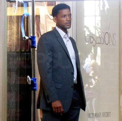 Will Smith on the Set of Seven Pounds