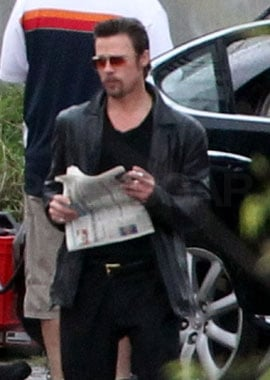 Brad Pitt Rocks His Slicked-Back Hair and Goatee on Set — Hot Stuff or Not My Thing?