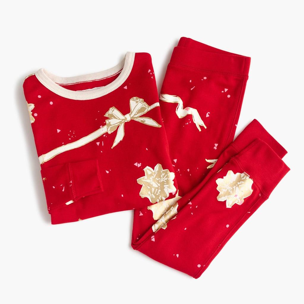 Crewcuts Girls' Pajama Set in Ribbons and Bows