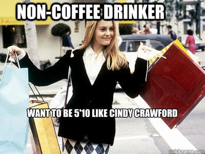 """PS: A defining career moment for us was when Cher referenced you in Clueless when she said, """"Duh, [coffee] might stunt my growth! I want to be 5'10"""" like Cindy Crawford."""" That pretty much solidified your status in pop culture as the biggest supermodel in the world. What was your reaction to that moment in the movie? CC:: I don't remember that! That's so funny! Wait, that was in Clueless? I've seen it, and I don't remember! I had no idea! I'll have to watch that again. PS: You were, in fact, the highest-paid model of your generation. Do you think you could've replicated that success in this decade? CC: I feel like I had to be in that one moment. Before my generation there were big models. There was Cheryl Tiegs, Christie Brinkley, and Carol Alt, but there wasn't a group. And after my generation there are huge models: Kate Moss, Amber Valletta, Gisele, and Coco Rocha, but there was something about that one moment where [the timing] was unique. I don't think I could've replicated that. And certainly with the way my body is, I would've had to go on a starvation diet today. I would've had to change who I was to fit today's mold. Now the models are a size 0. I can't even get a pair of size 0 pants up over my thighs! I always say the stars were in alignment for me. There was also a time [before me] when Hollywood actresses didn't really want to be glamorous because they felt like they wouldn't be taken seriously. And then my time happened at just the right moment. Source:"""