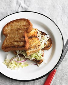 Recipe For Grilled Fish Sandwiches With Cabbage Slaw