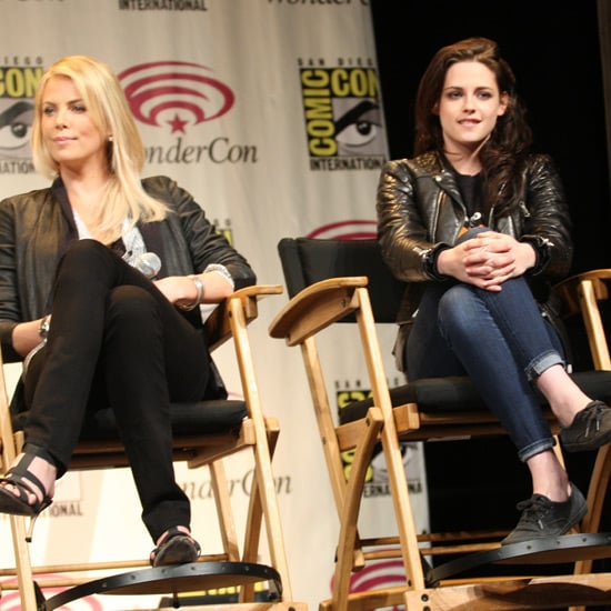 Kristen Stewart Pictures at 2012 WonderCon with Charlize Theron
