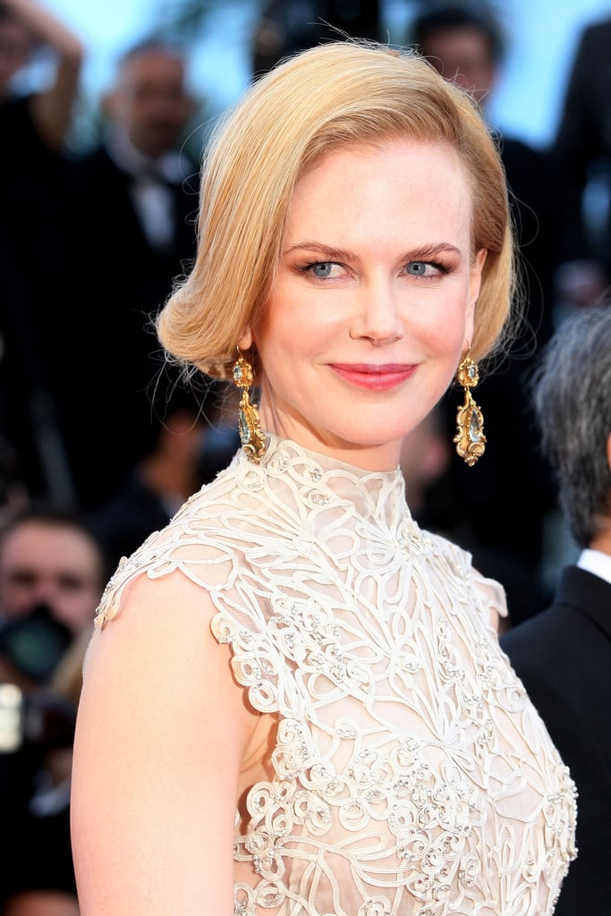 Another look from this year's Cannes Film Festival was this highly stylised faux bob, which is a sleek spin on the usually tousled look.