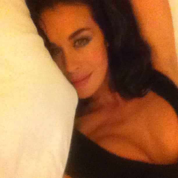 Megan Gale felt like sleeping in her Alex Perry dress after the Skyfall premiere. Source: Instagram user megankgale