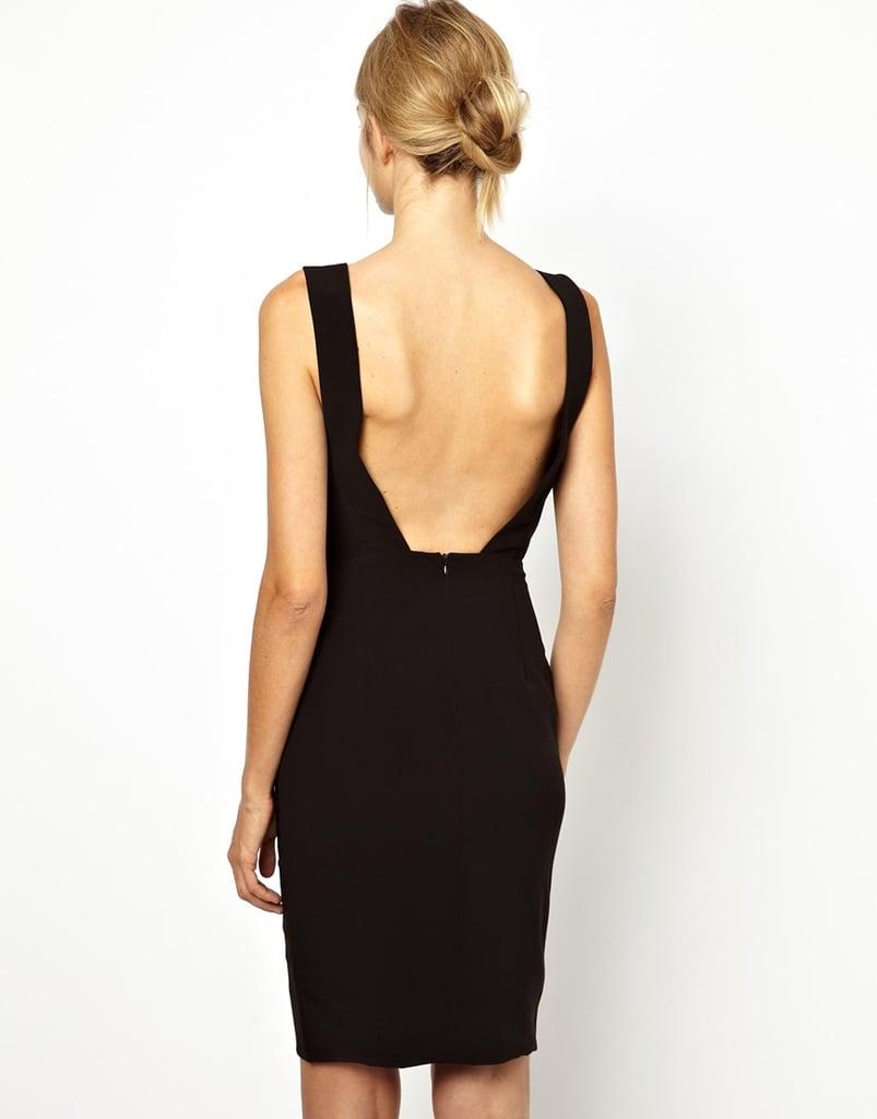 Solace London Backless Deep-V Black Dress ($194)