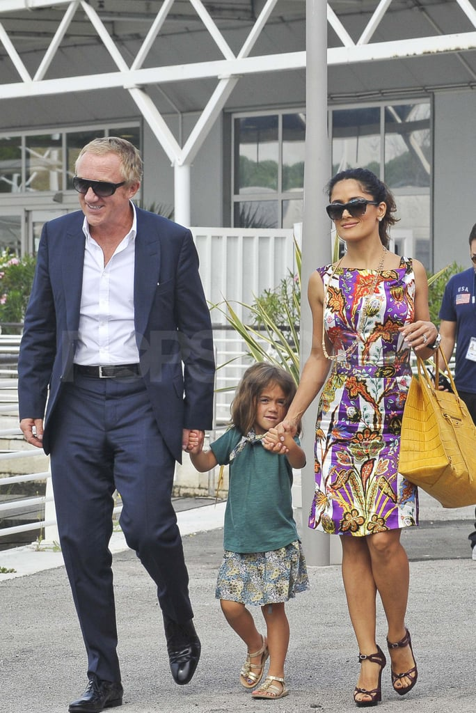 Salma Hayek and Francois-Henri Pinault with Valentina in Venice.