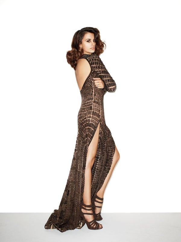 She wore a bronze-colored dress from Givenchy's couture collection for a Harper's Bazaar spread in May 2012. Source: Harper's Bazaar