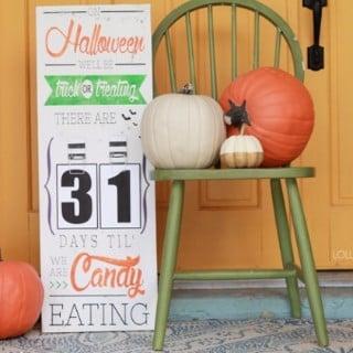 DIY Halloween Countdown Board