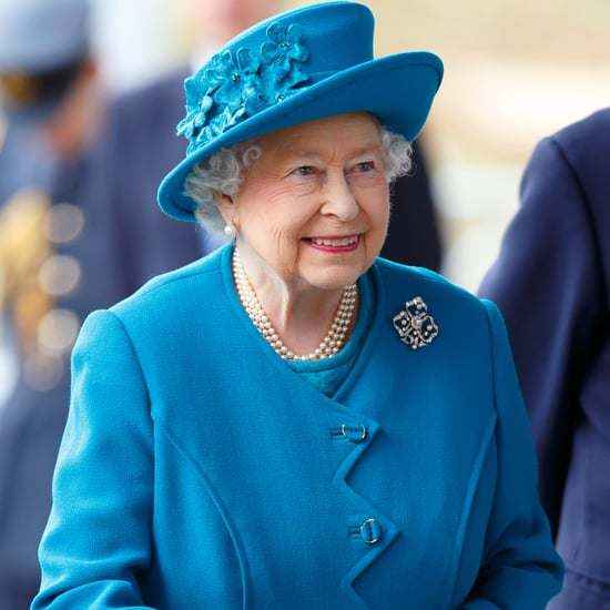 Queen Elizabeth Wearing a Blue Coat and Hat