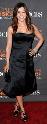 Alyson Hannigan Wears Black Strapless Dress to People's Choice Awards