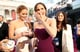 Jennifer Lawrence and Jennifer Garner shared a moment on the red carpet at the Oscars 2013.