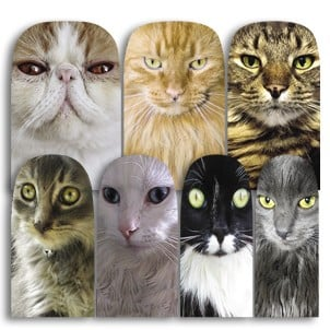 Yes, the cats on these nail wraps ($10 for 14) are definitely judging you. But you wouldn't want it any other way, right?