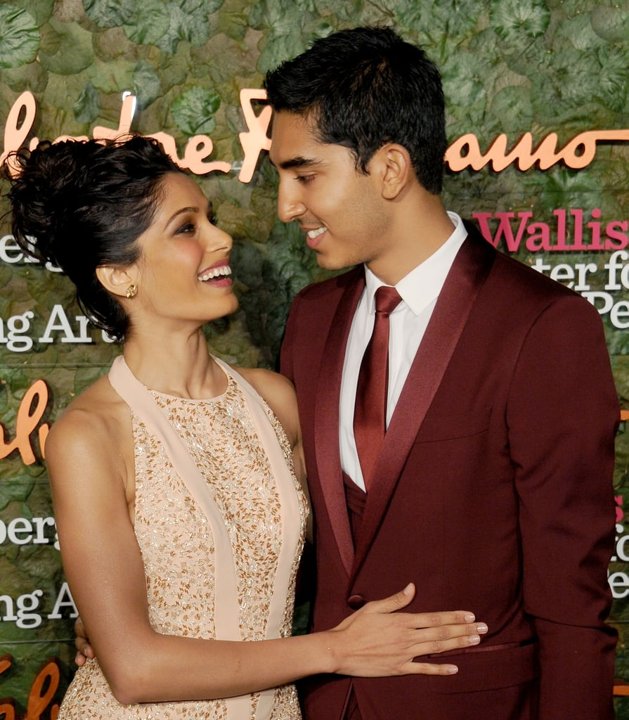 Freida Pinto and Dev Patel stared into each other's eyes at the Annenberg Gala.