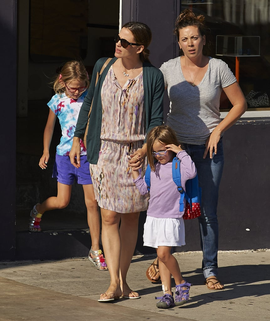 Jennifer Garner held hands with Seraphina for a shopping trip with Violet.