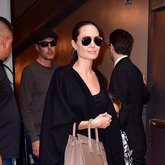 Angelina Jolie Wearing Leather Pants June 2016