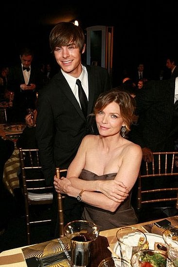 Michelle Pfeiffer and Zac Efron at the 2008 Screen Actors Guild Awards