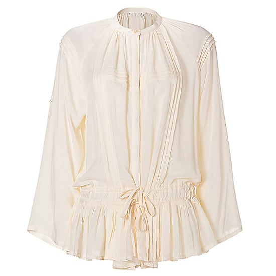 Equally chic with jeans or on the beach.  Antik Batik Vanilla Pleated Drawstring Tunic Top, $175