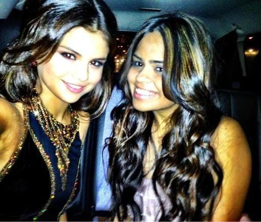 Selena Gomez snapped a photo on the way to the UNICEF Snowflake Ball. Source: Twitter user selenagomez