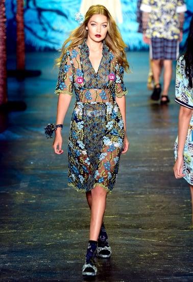 Gigi Hadid Walks NYFW Runway in Sheer Dress at Anna Sui, Looks Flawless
