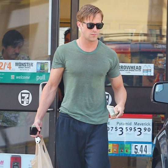 Ryan Gosling in Sweats at 7 Eleven in NYC
