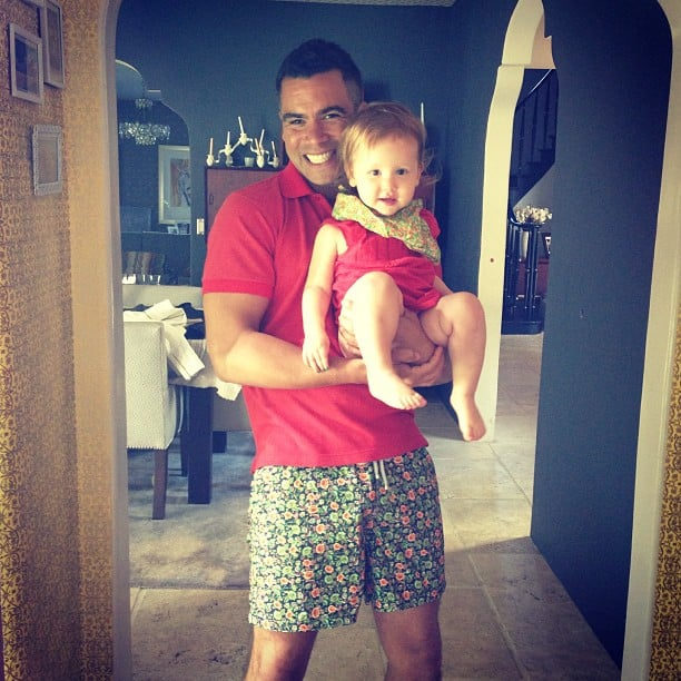 Cash Warren and his daughter Haven sported adorable matching outfits. Source: Instagram user cashwarren